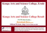 Kongu Arts and Science College Result