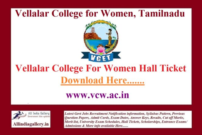 VCW Hall Ticket