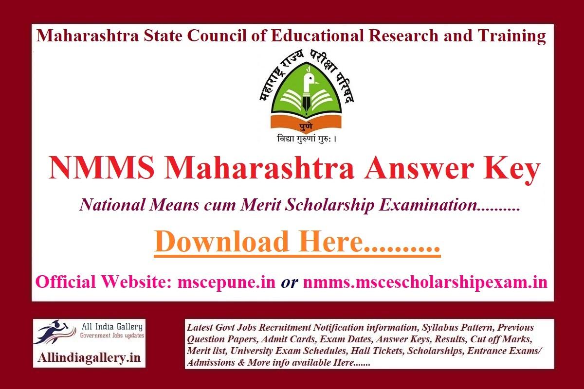 NMMS Maharashtra Answer Key