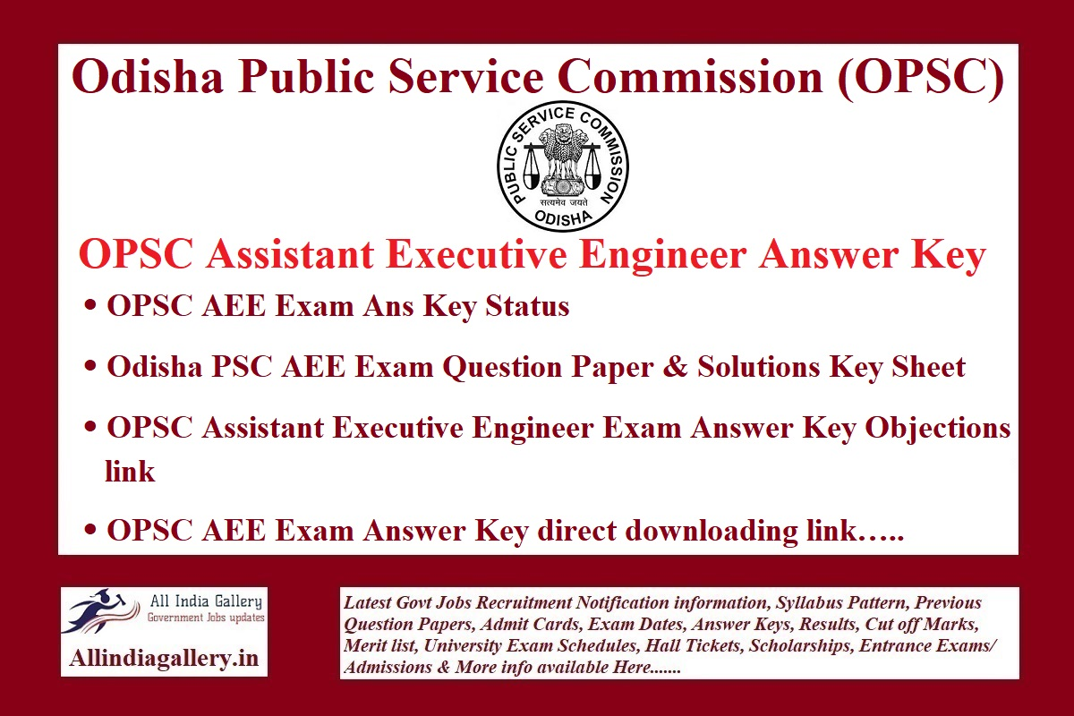 OPSC AEE Answer Key 2021