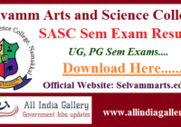 Selvamm Arts and Science College Result