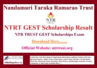 NTRT GEST Scholarship Result
