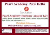 Pearl Academy Entrance Answer Key