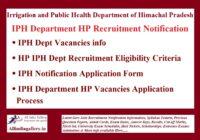 IPH Department HP Recruitment Notification