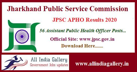 JPSC Assistant Public Health Officer Result