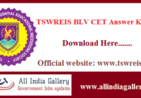 TSWREIS BLV CET Answer Key