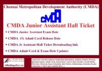 CMDA Chennai Junior Assistant Hall Ticket
