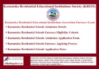 Karnataka Residential Educational Institutions Association Entrance Exam