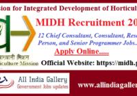 MIDH Recruitment 2020