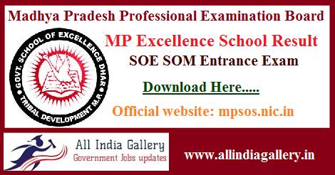 MP Excellence School Entrance Result
