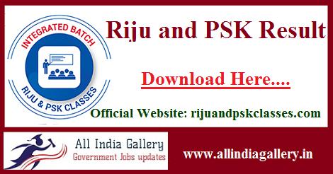 Riju and PSK Result