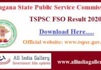 TSPSC Food Safety Officer Result 2020