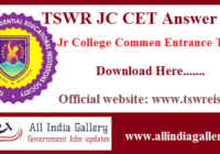 TSWR JC CET Answer Key