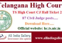 TS High Court Civil Judge Hall Ticket 2020