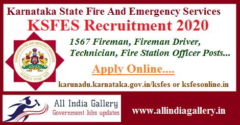 KSFES Recruitment 2020
