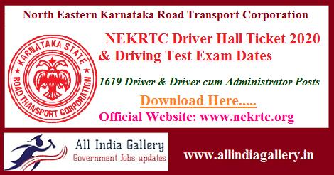 NEKRTC Driver Hall Ticket
