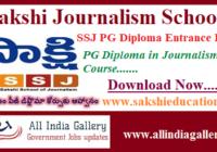 Sakshi Journalism School Notification