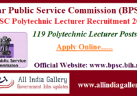 BPSC Polytechnic Lecturer Recruitment 2020