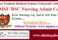 MPMSU BSC Nursing Admit Card