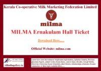 MILMA Ernakulam Hall Ticket