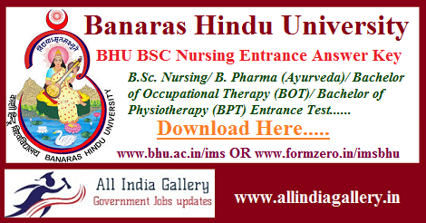BHU BSC Nursing Entrance Answer Key