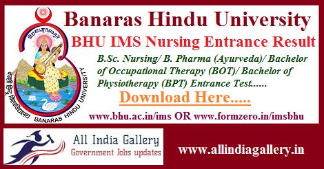 BHU IMS Nursing Entrance Result
