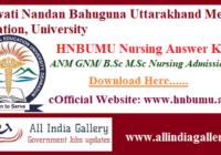 HNBUMU Nursing Answer Key