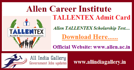 TALLENTEX Admit Card