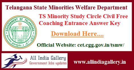 TS Minority Study Circle Answer Key