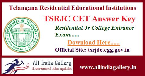 TSRJC Answer Key