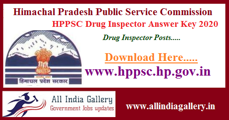 HPPSC Drug Inspector Answer Key 2020