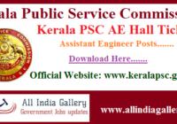 Kerala PSC AE Hall Ticket