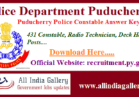 Puducherry Police Constable Answer Key 2020
