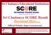 Sri Chaitanya Score Result