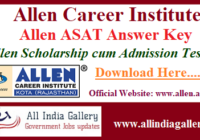 Allen ASAT Answer Key