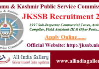 JKSSB SI Finance Recruitment 2020