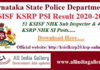 KSISF PSI Result 2020-2021
