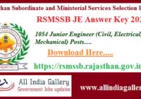 RSMSSB JE Answer Key 2020