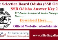 SSB Odisha Junior Assistant Answer Key 2020