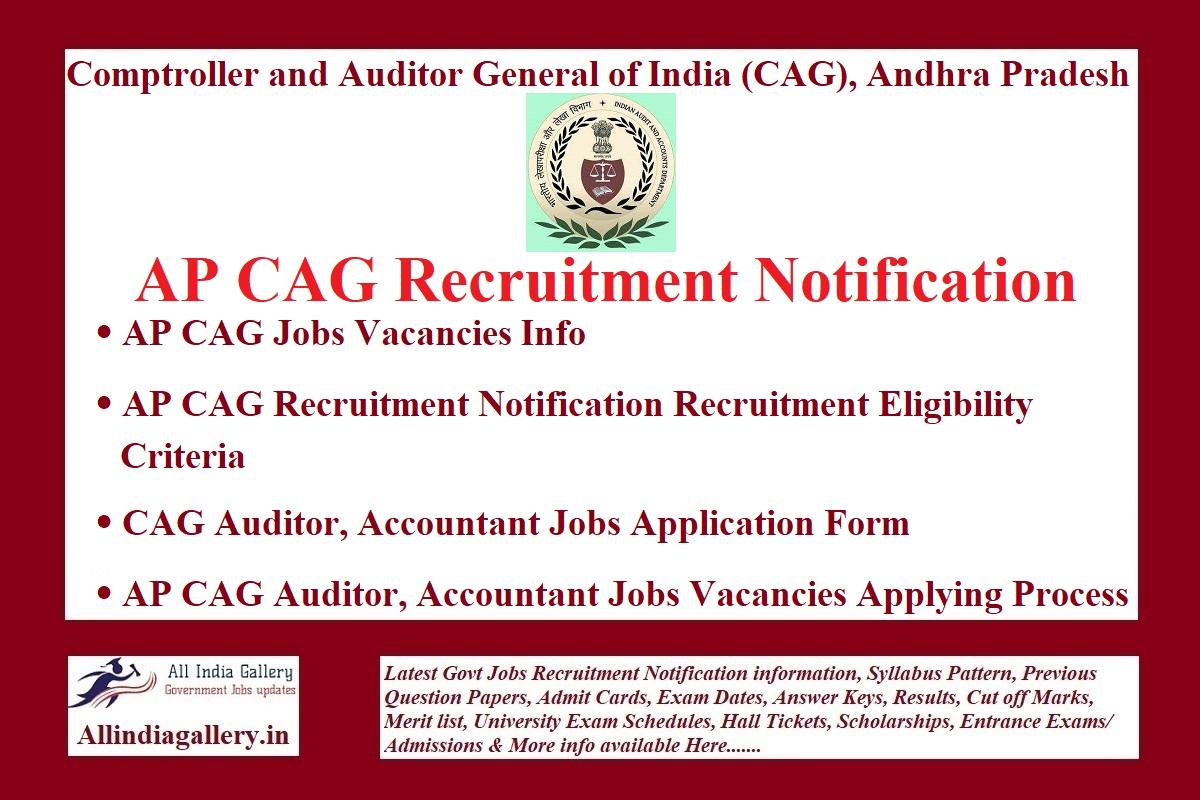 AP CAG Recruitment Notification