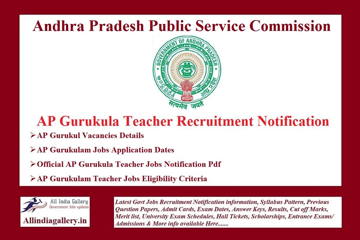 AP Gurukula Teacher Recruitment Notification
