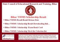 Bihar NMMS Result