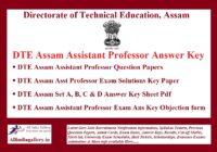 DTE Assam Assistant Professor Answer Key