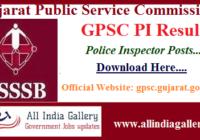 GPSC PI Result