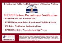HP IPH Driver Recruitment Notification