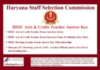 HSSC Arts & Crafts Teacher Answer Key