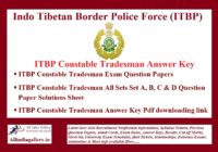 ITBP Constable Answer Key