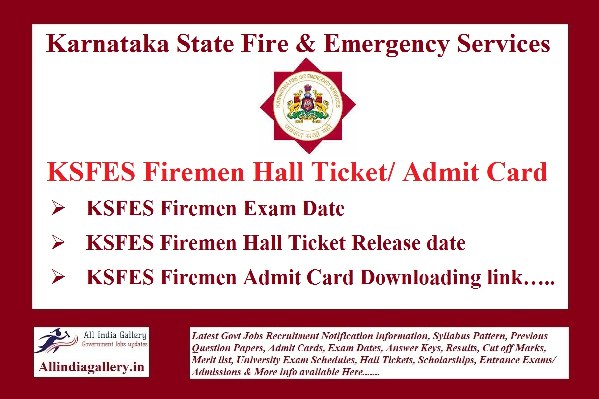 KSFES Firemen Hall Ticket