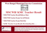 MSCWB Teacher Result