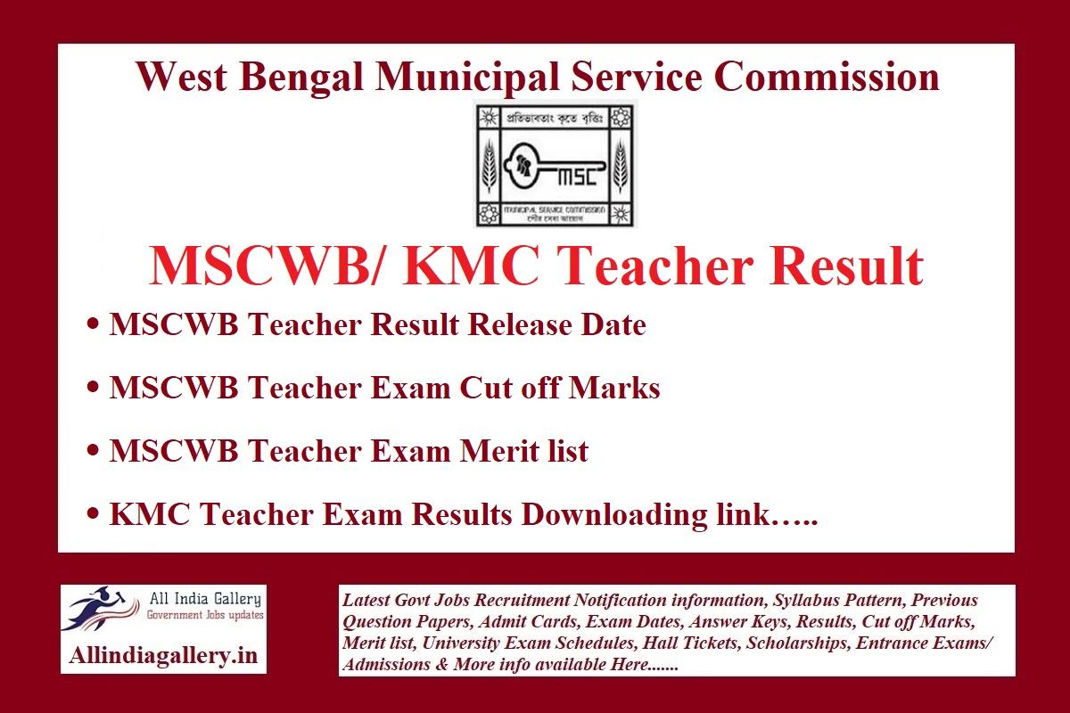 MSCWB Teacher Result